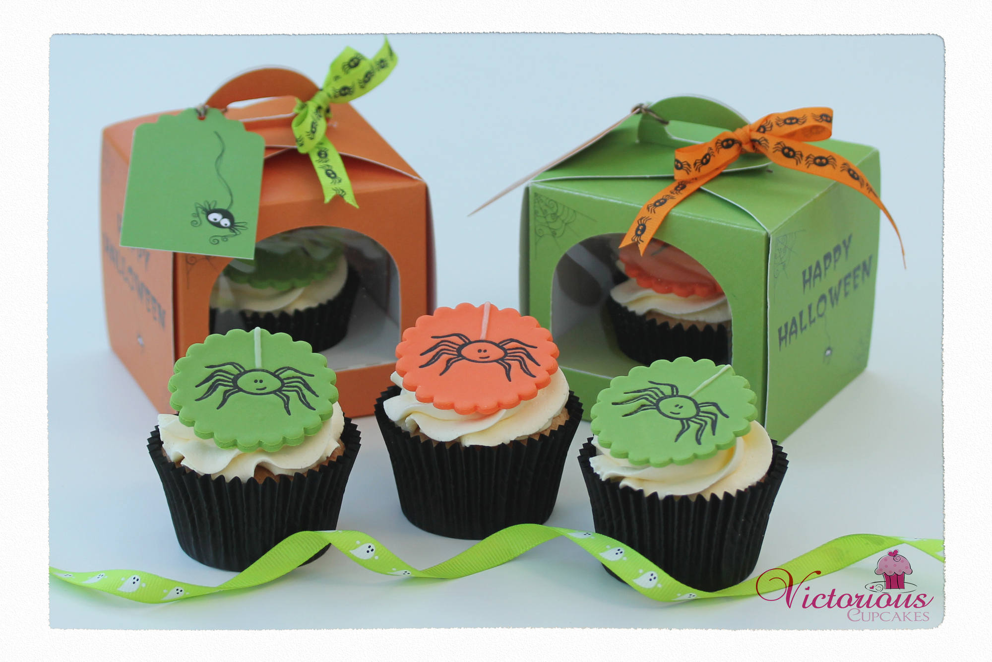 Spider Cupcake Tutorial Framed