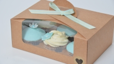 kraft cupcake box six