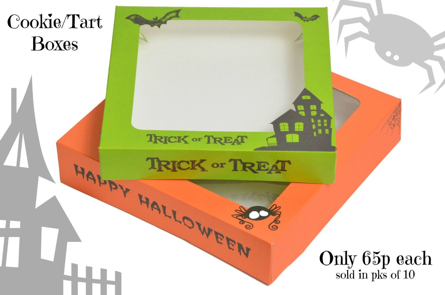 halloween biscuit boxes