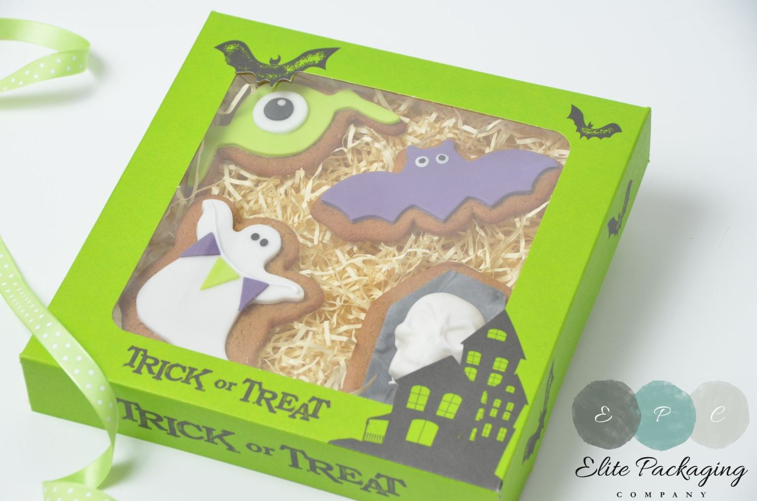 printed halloween cookie box