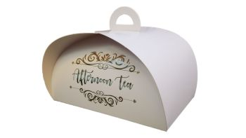 Afternoon Tea/Patisserie Box with foil logo - Pack of 100