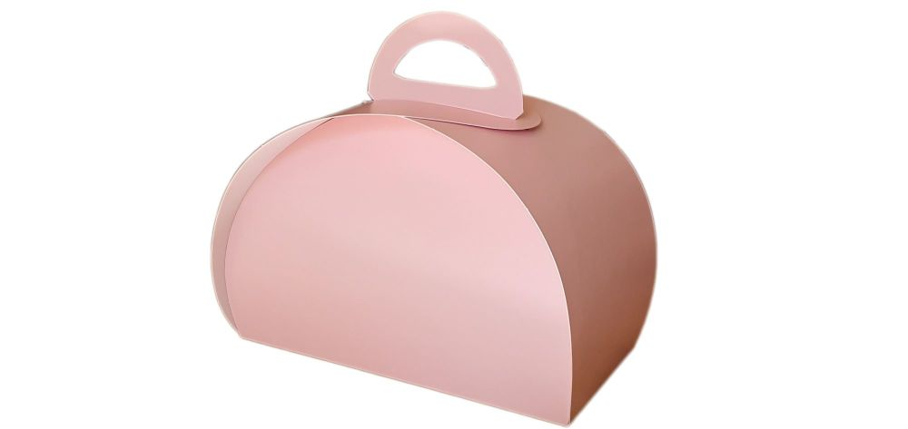 Pink Afternoon Tea/Patisserie Box -180 x 90 x 100mm-Pack of 25
