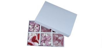 White Non window Lid 6pk Sweet Box with inserts - Pack of 10