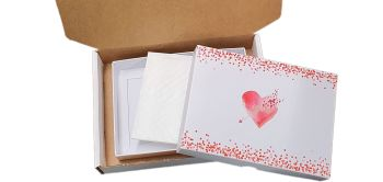 Valentine's Large Non Window Cookie Box Bundle Packaging  - box, padding and postal box -  240 x 155 x 30mm PK of 10