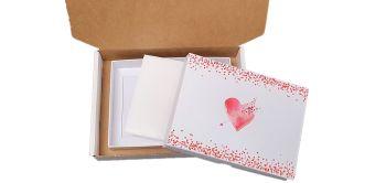 Valentine's C6  Non Window Cookie Box Bundle Packaging - box, padding and postal box  - 190x140x35mm  PK of 10