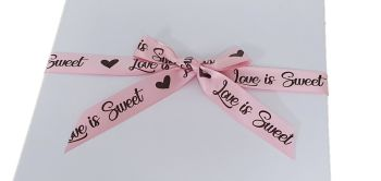 5 Mtr Pink Valentine's  Ribbon 15mm