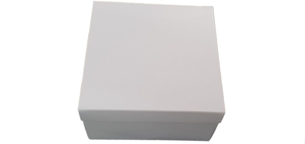 Square Gift Hamper - White Base Non Window Lid - 155mm x 155mm x 90mm  Pack