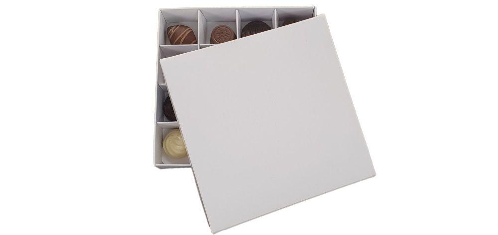 16pk White Chocolate Box With Non Window lid And Insert Chocolate Box - 15