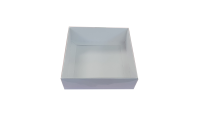 White Large Deep Square Cookie Box With Clear Lid- 155mm x 155mm x 50mm Pack of 10