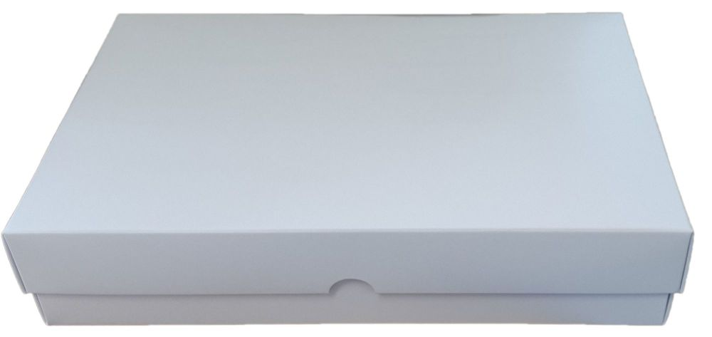 White Deep Non Window Large Biscuit/Cookie Box -240mm x 155mm x 50mm  Pack
