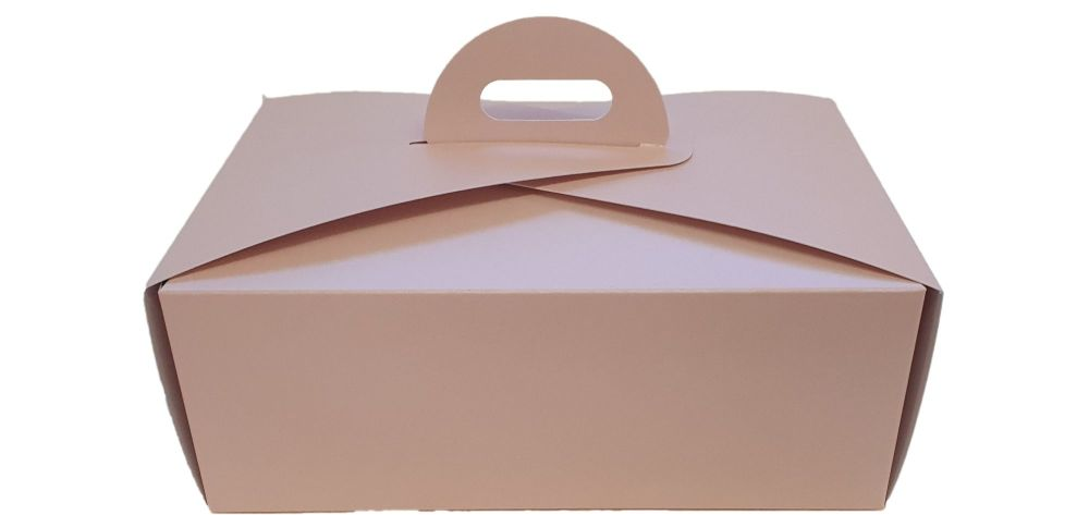 Pink Handle Presentation Box With Divider Insert - 222mm x 152mm x 85mm - Pack of 100