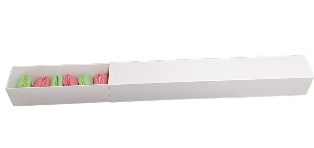 White Long 12pk Non Window Sleeve & Macaron Box - 360mm x 50mm x 50mm - Pack of 10