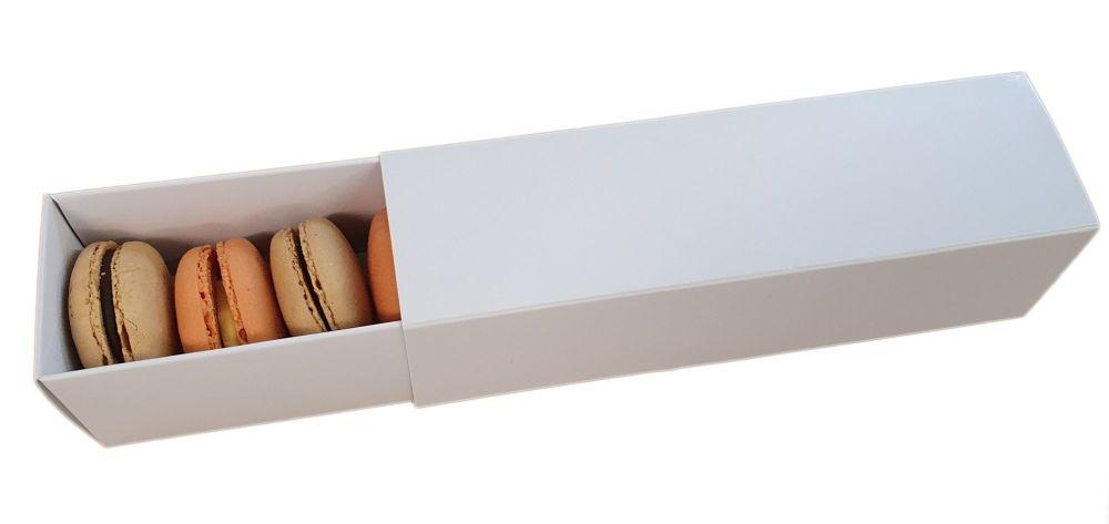 White 6pk Non Window Sleeve Macaron Box - 185mm x 50mm x 50mm - Pack of 10