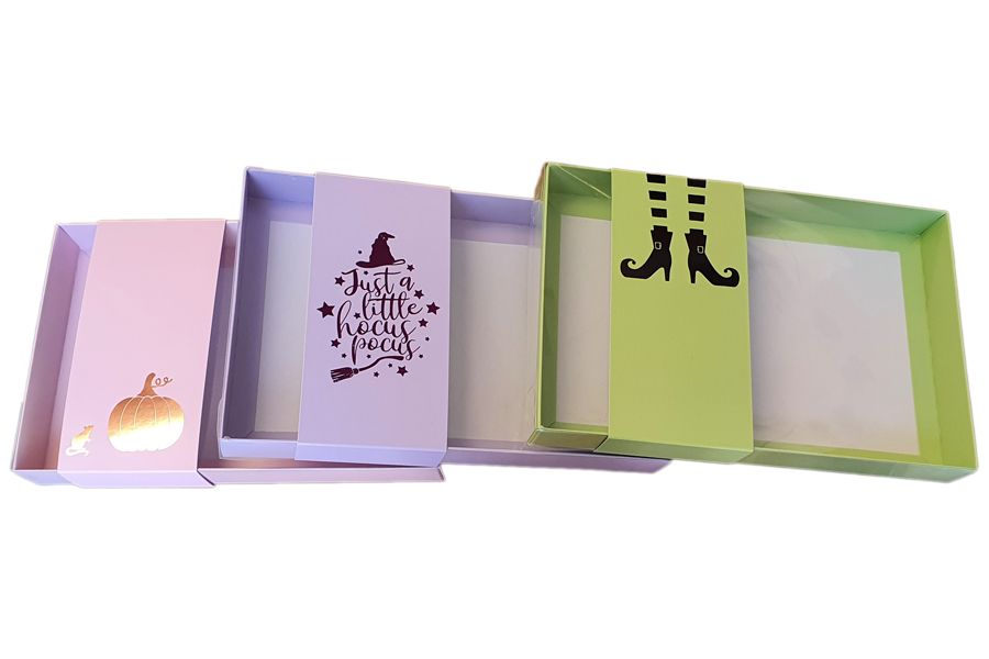 trio halloween boxes