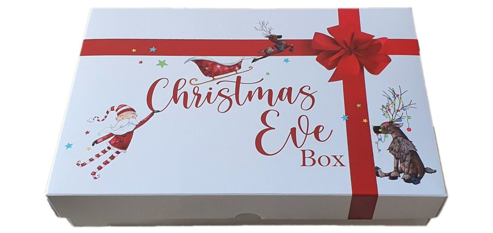 Christmas Eve Santa Print  box -240mm x 155mm x 30mm  Pack of 10
