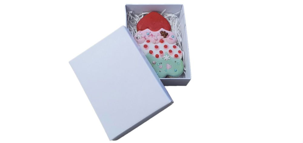 White Small Rectangle Box With Non Window Lid - 115mm x 80mm x 30mm - Pack