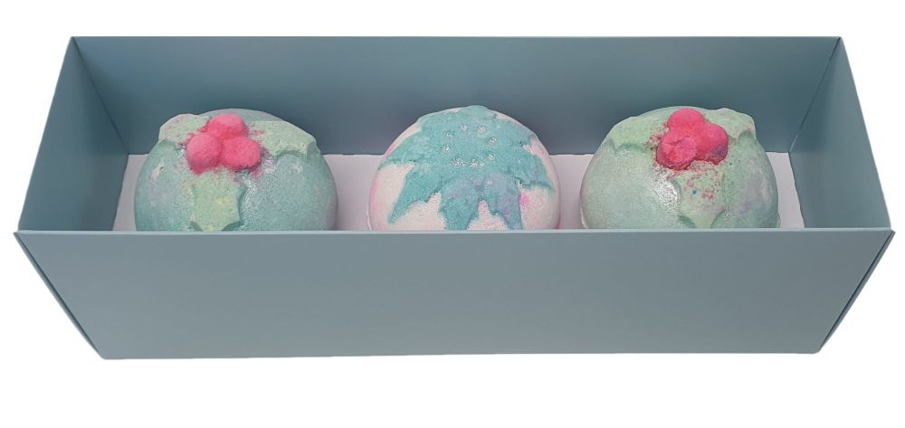 Turquoise Rectangle Bath Bomb Box With Clear Lid- 270mm x 80mm x 90mm - Pac
