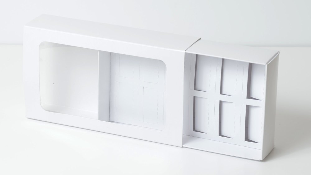 White Macaron Box - Twelves - Pack of 10