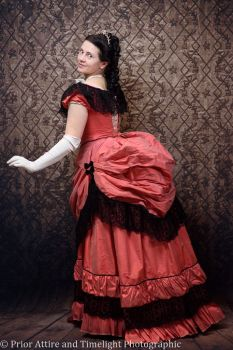 Victorian bustle evening dress size 8-10
