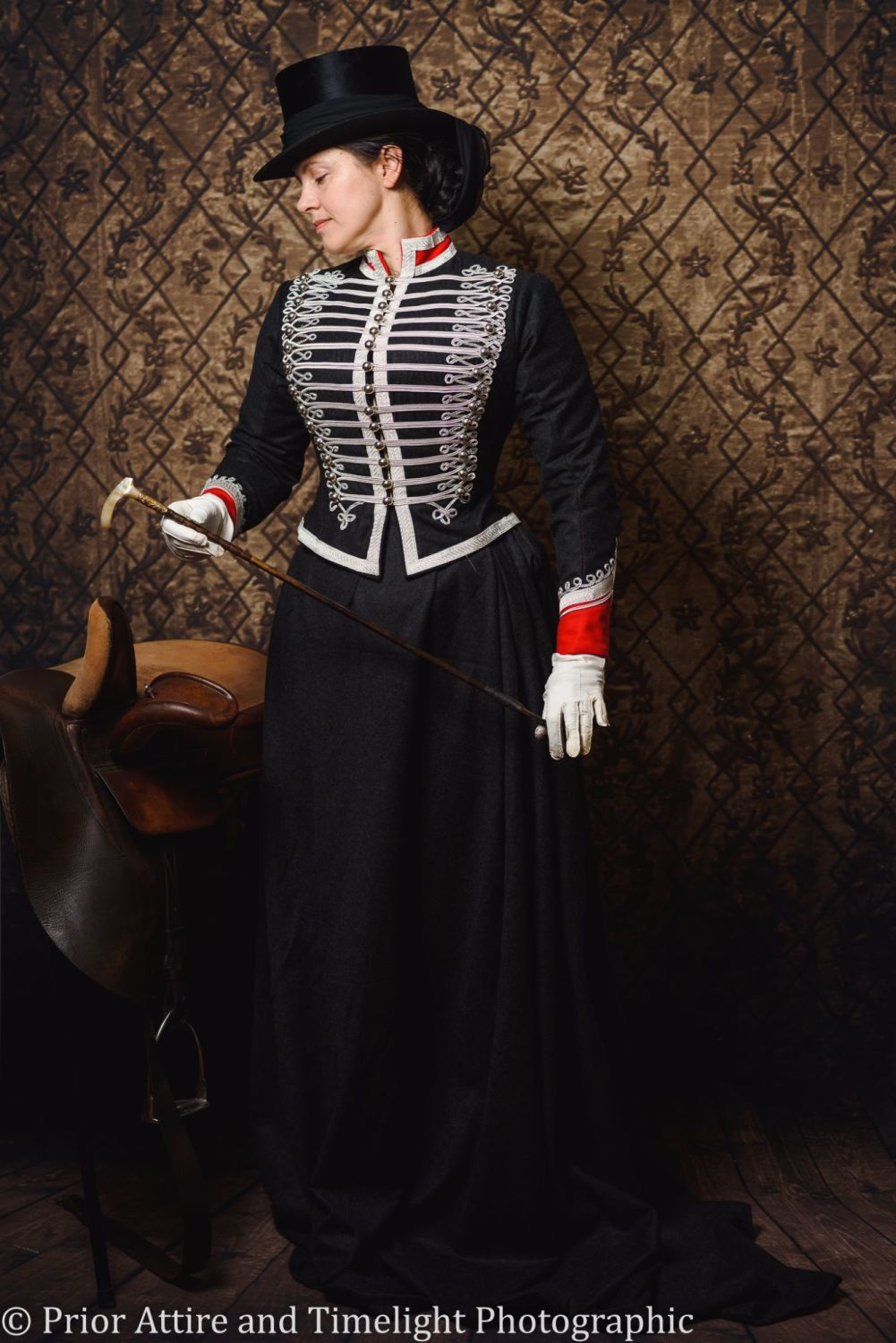 Victorian  Military styled riding habit size 10/12