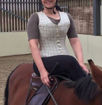 Equestrian corseted waistcoat made to measure