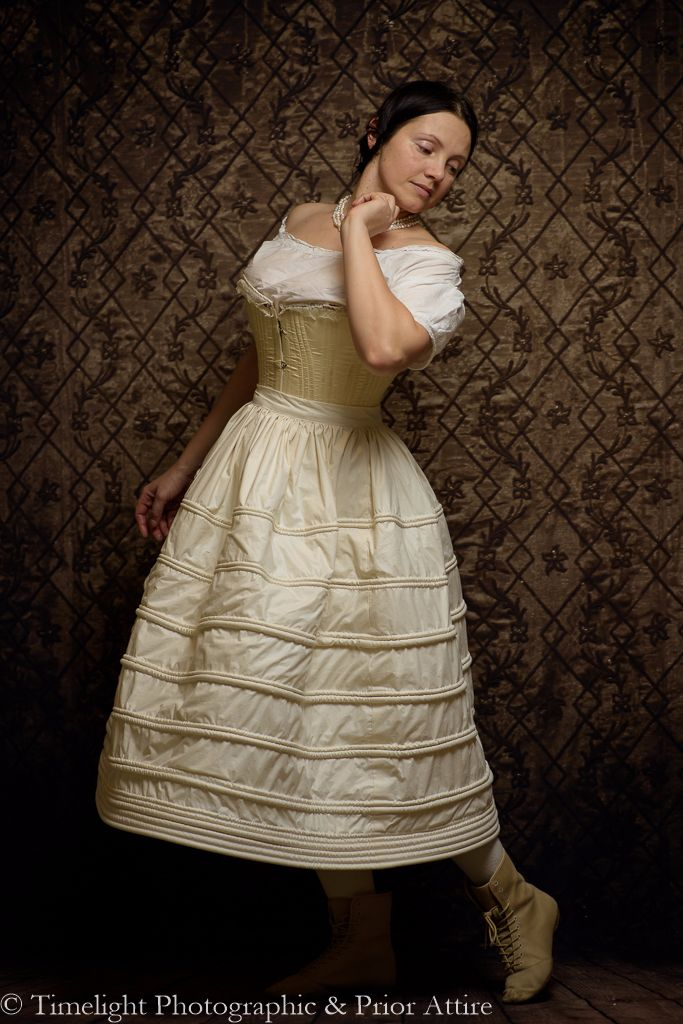 1830s corded petticoat made to measure