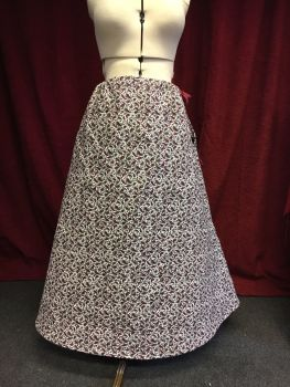Victorian quilted  winter petticoat size 10-16