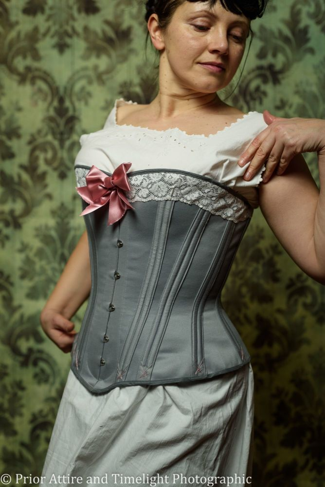 Victorian corset  with a spoon busk