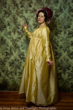 Regency day dress silk size 12-16