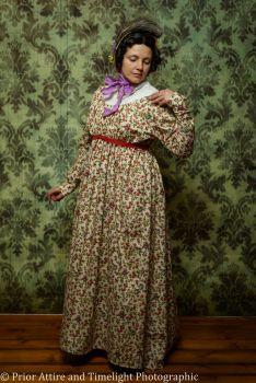 Regency day dress cotton size 10-16