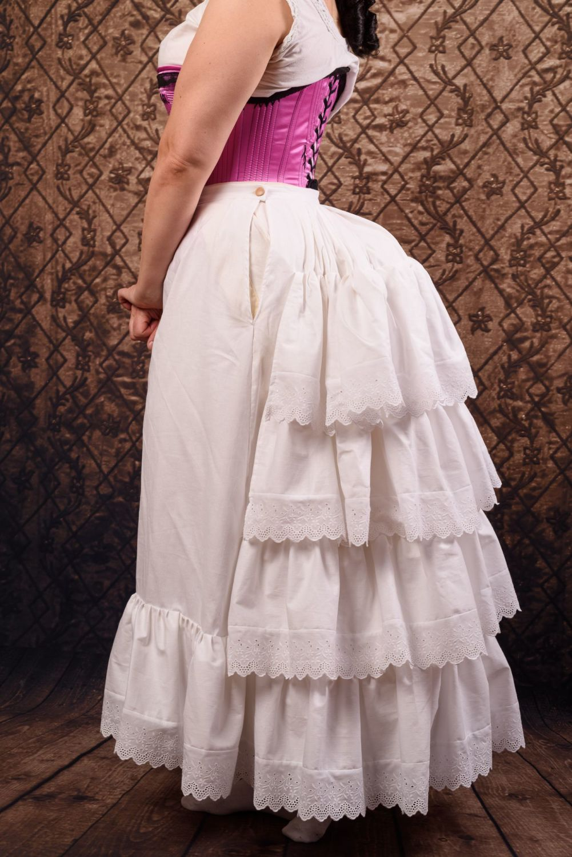 Victorian flounced petticoat size 12-14
