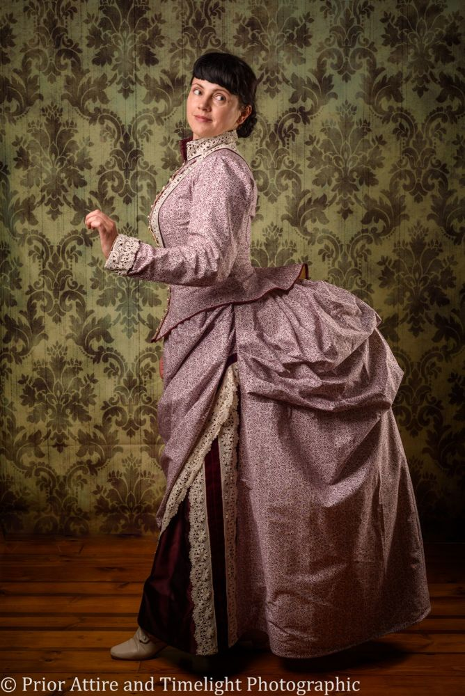 Victorian bustle day dress size 12-14