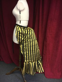 Bustle Cage in striped silk