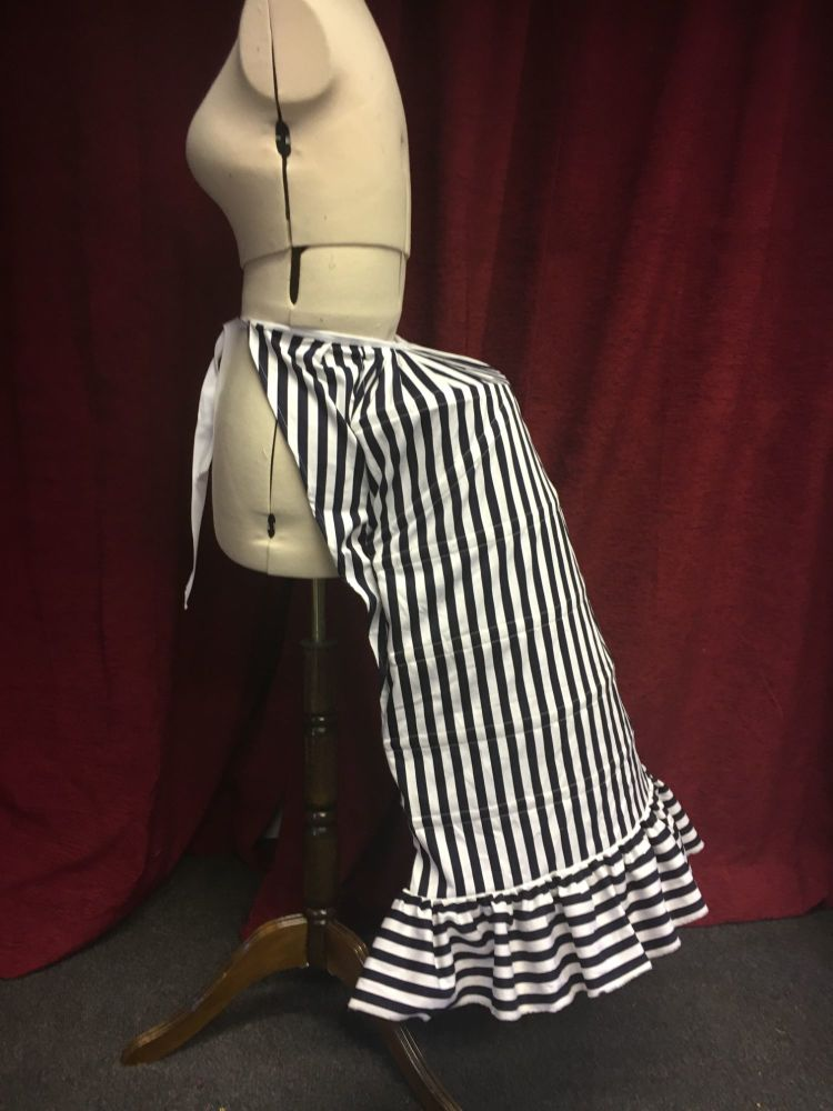 Bustle Cage in striped cotton,