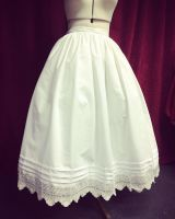 1830-40 petticoat  made to measure