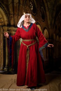 Medieval dress Bliaut 12-13th century, size L