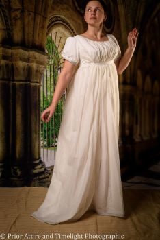 Regency evening dress cotton size 10-14