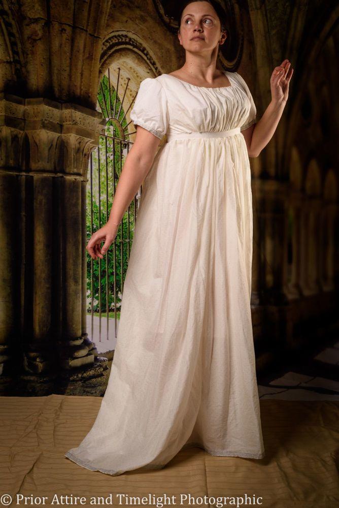 Regency evening dress cotton size 10-14