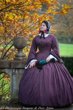 Victorian crinoline day dress size 14-16