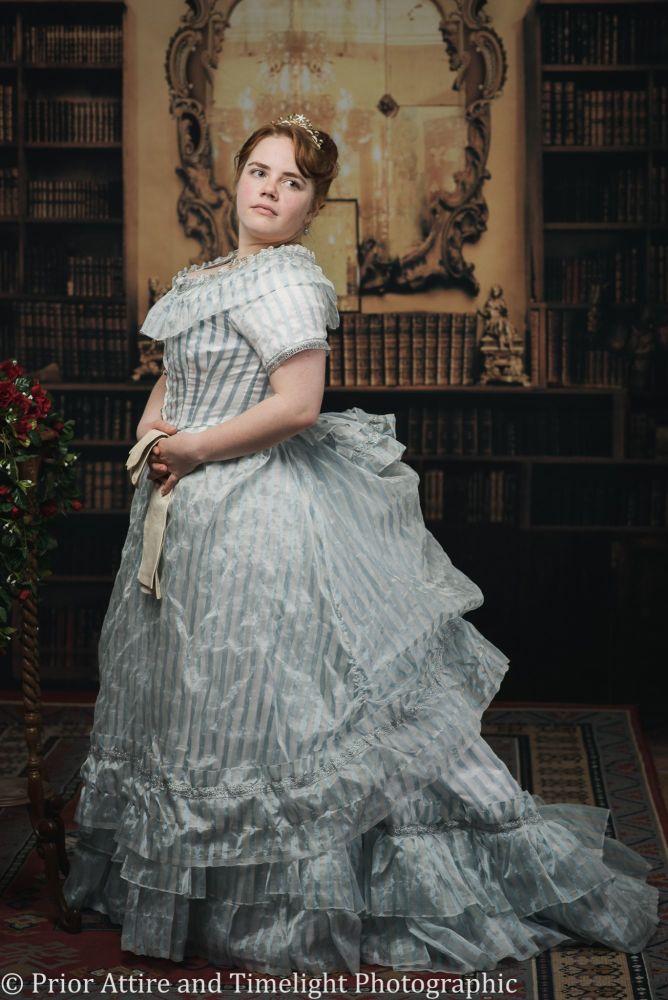 Victorian Bustle evening dress