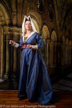 Medieval dress, burgundian, 15th Century reversible