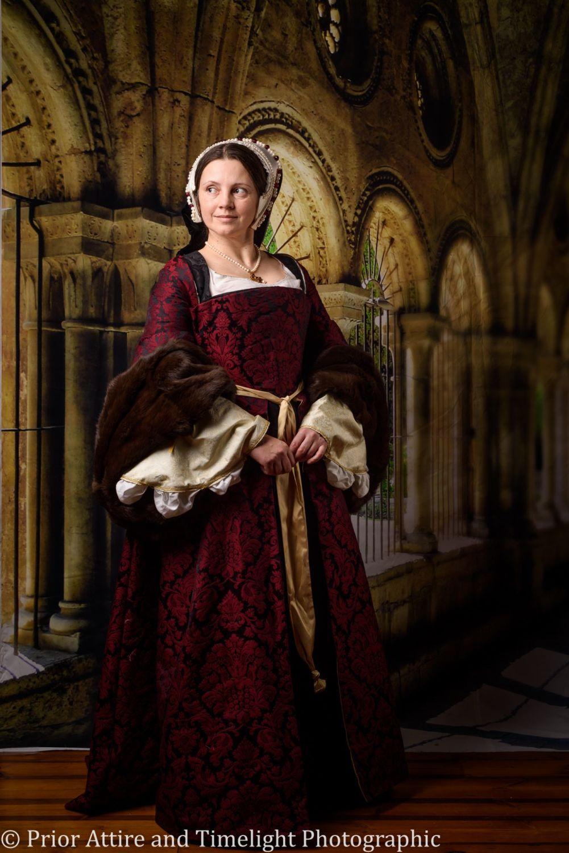 Tudor gown in silk brocade size 10 -12