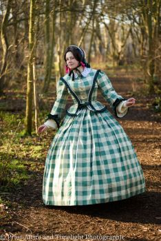 Victorian crinoline day dress size 12