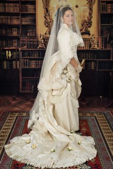 Victorian wedding dress, used