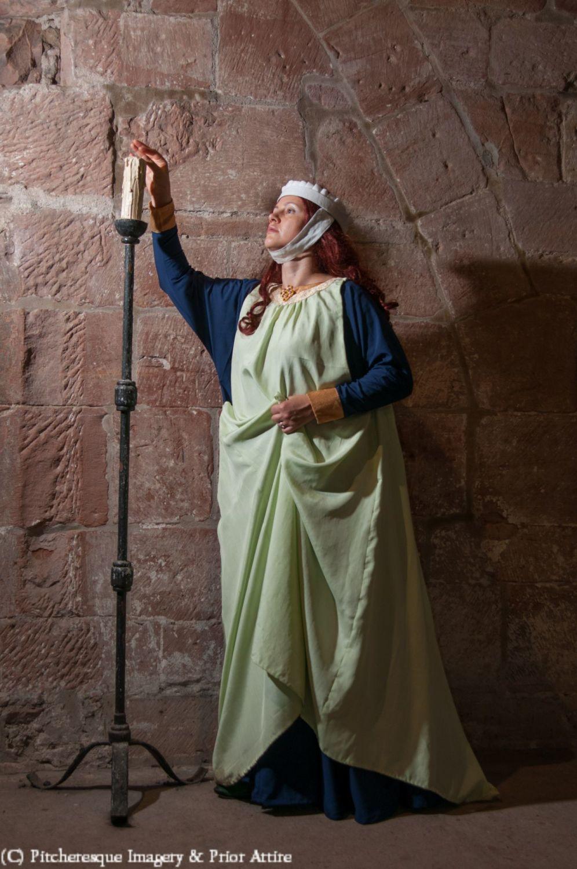 Medieval surcoat in silk, used