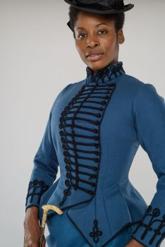 Victorian Military styled riding habit, Used, size 12-14