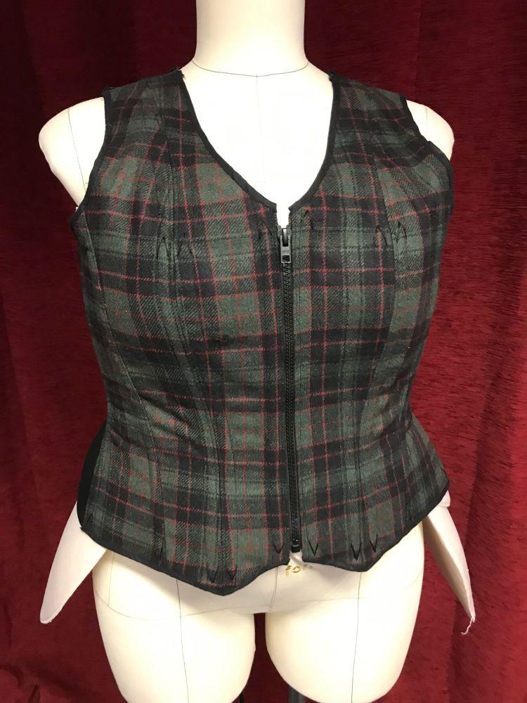 corseted waistcoat tweed size 16-18