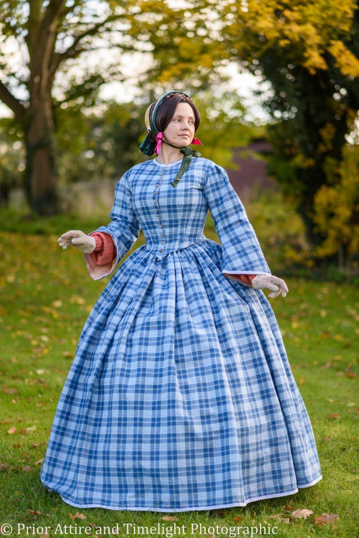 Victorian crinoline day dress size 12-14