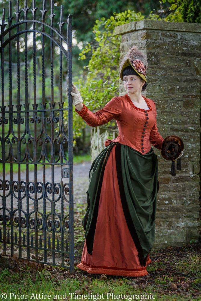 Victorian bustle day dress size 12