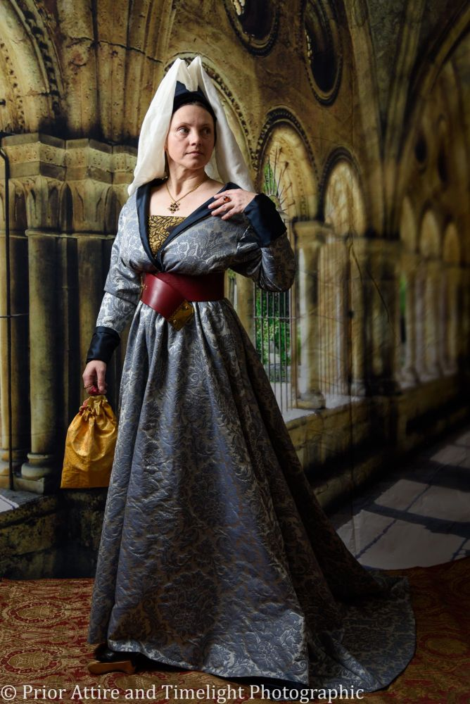 Reversible Medieval dress, Burgundian, 15th Century